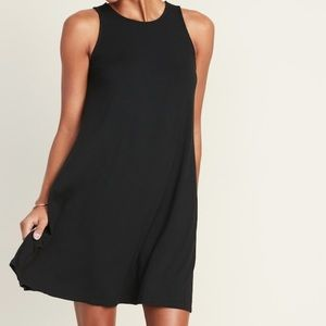 Old Navy black swing dress